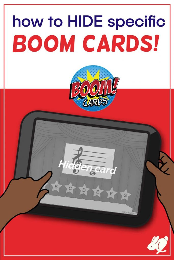 This 1.5 minute tutorial is for those who have wondered how to hide specific Boom Cards from a Boom Learning deck before assigning them to students. It's super easy and comes in handy when you need to hide cards, break up assignments for your music classes, or want to remove cards that are too easy or too hard. Great for distance learning and compatible with Google Classroom, SeeSaw, and many other platforms!