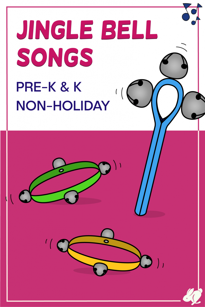 This is a great list of fun jingle bell, cluster bells, wrist bells songs for preschool and kindergarten! Most will even work with toddlers and elementary music classes. The songs can be found online for free. There are no holiday or Christmas songs so that you can use the activities any time of year.
